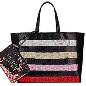 VS Victoria's Secret Sequin Tote bag carry all